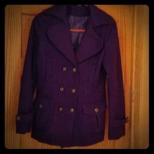 Purple Wool Peacoat